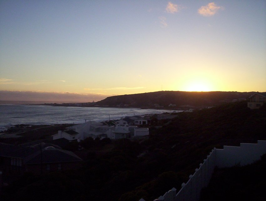 Struisbaai self catering house sunsets from the balcony for From the balcony